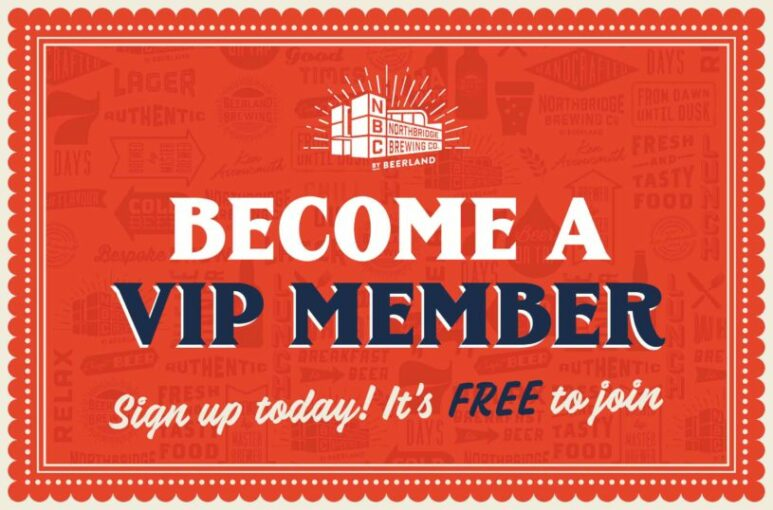 Northbridge Brewing Company VIP Membership