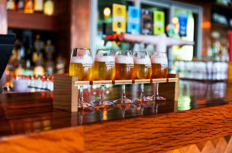 Northbridge Brewing Company Beer tasting paddle